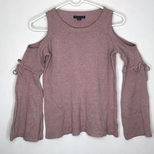 American Eagle Cold Shoulder Bell Sleeve Sweater